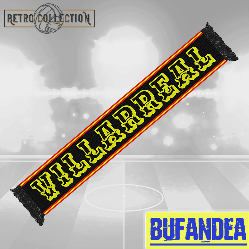Bufanda Villarreal Retro (mod.black)
